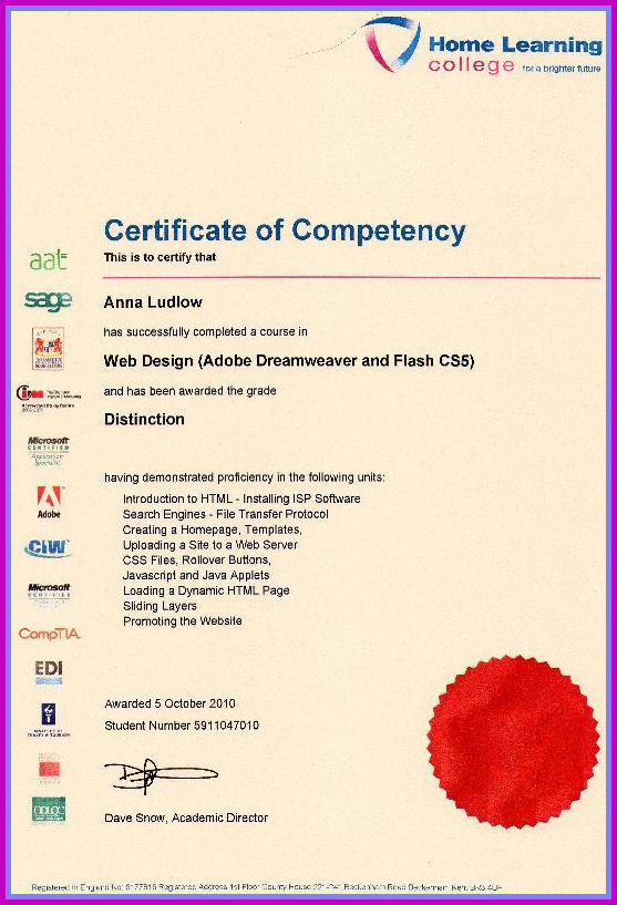 Web Qualification Certificate